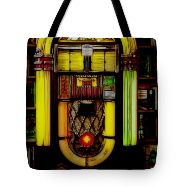 Tote Bag featuring the photograph Wurlitzer 1946 Jukebox - Featured In Comfortable Art Group by Ericamaxine Price