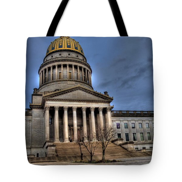 Wv Capital Building 2 Tote Bag by Jonny D