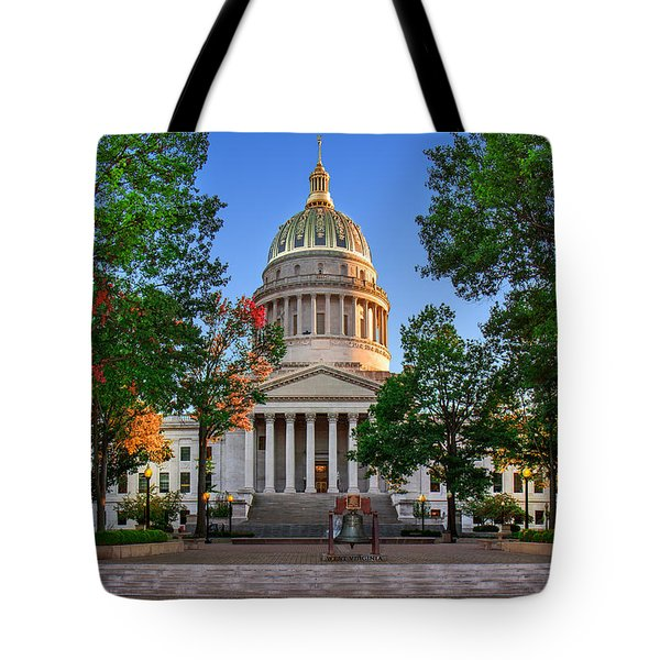 Wv Capitol As Dusk Tote Bag