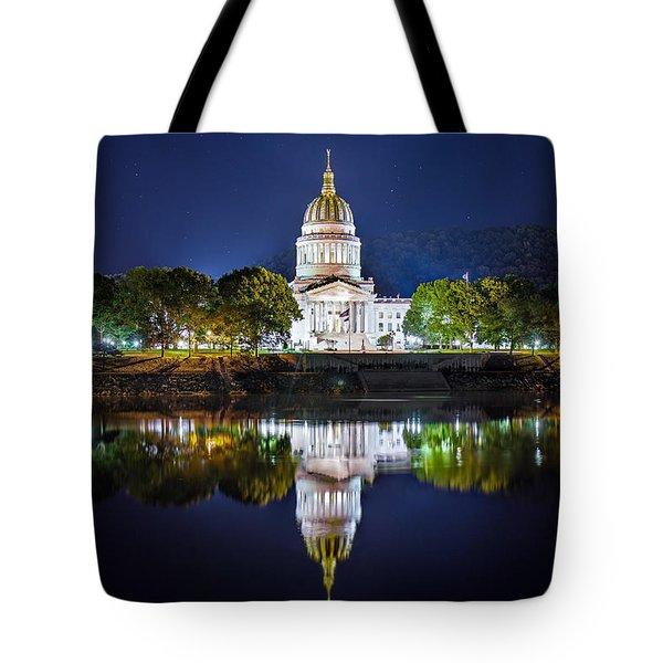 Wv Capitol Tote Bag