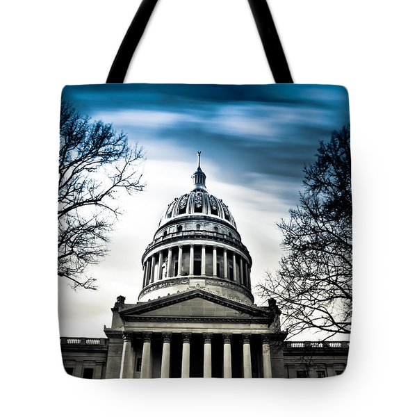 Wv State Capitol Building Tote Bag by Shane Holsclaw
