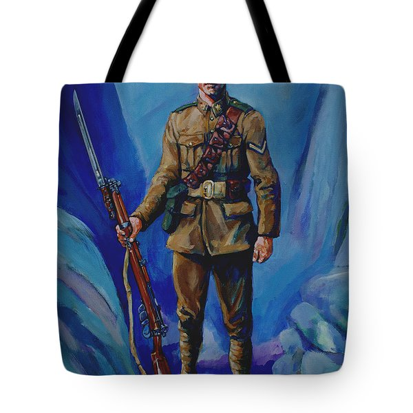 Ww 1 Soldier Tote Bag by Derrick Higgins