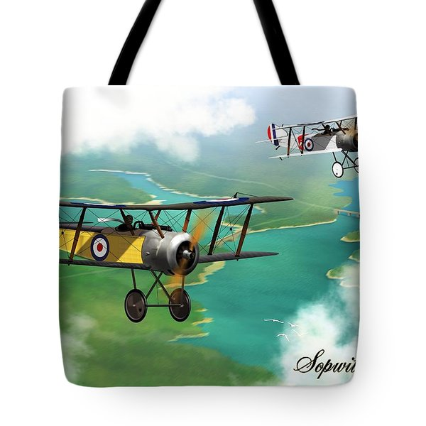 Ww1 British Sopwith Scout Tote Bag by John Wills