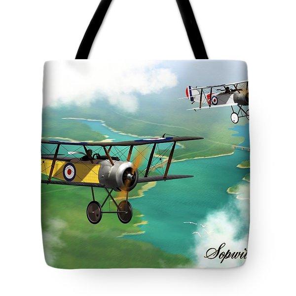 Ww1 British Sopwith Scout Tote Bag