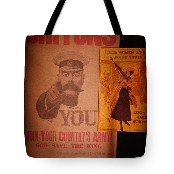 Ww1 Recruitment Posters Tote Bag