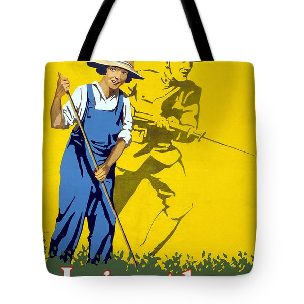 Wwi Join The Land Army 1918 Tote Bag by Photo Researchers