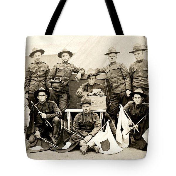 Wwi Us Army Signal Corps Tote Bag by Historic Image