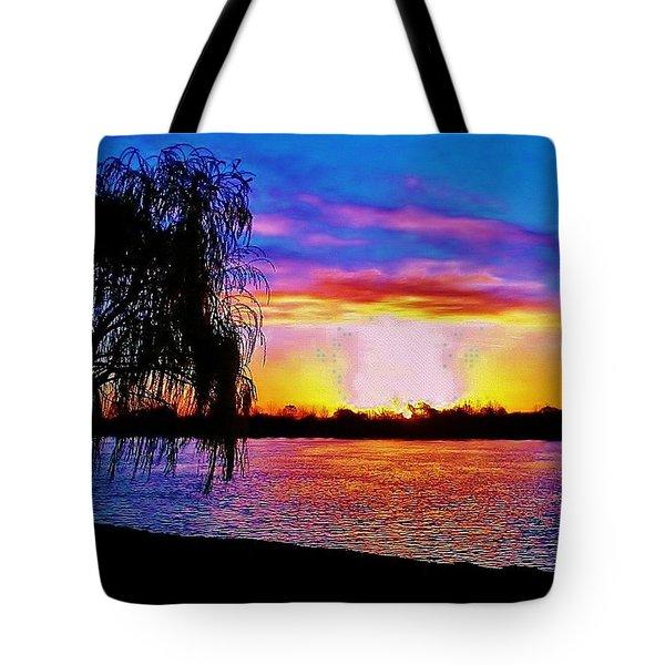 Tote Bag featuring the photograph Wyandotte Mi Sunrise by Daniel Thompson