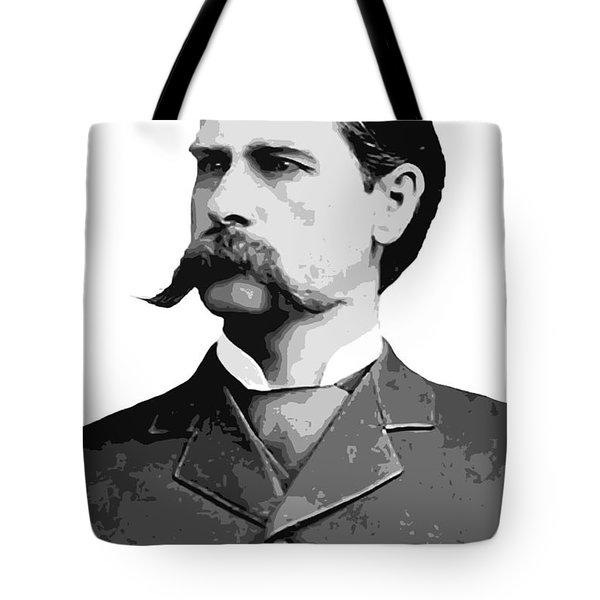 Wyatt Earp Legend Of The Old West Tote Bag