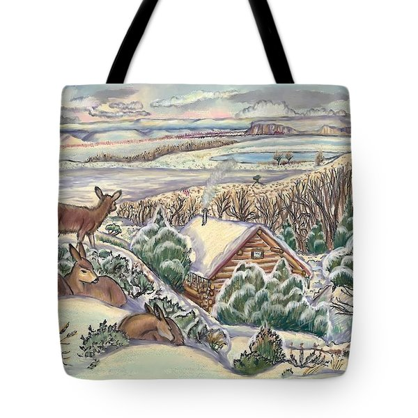 Wyoming Christmas Tote Bag by Dawn Senior-Trask