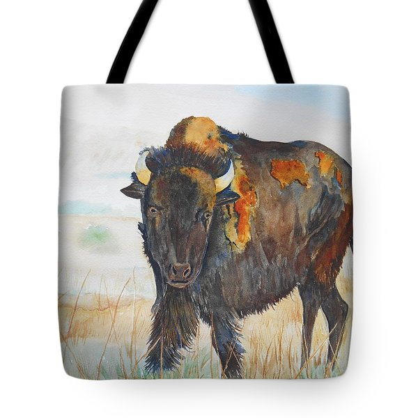 Wyoming - King Of The Prairie Tote Bag