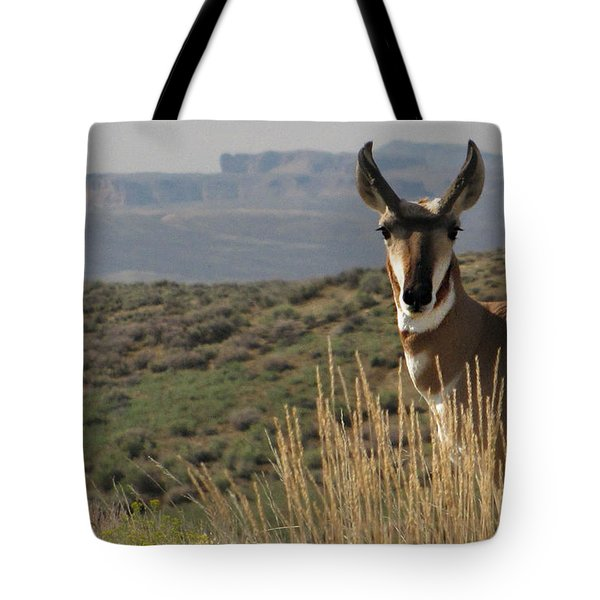 Wyoming Pronghorn Tote Bag