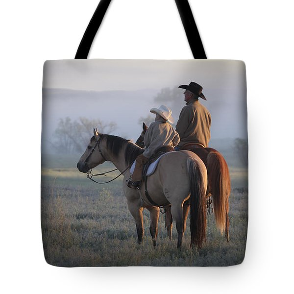 Wyoming Ranch Tote Bag by Diane Bohna