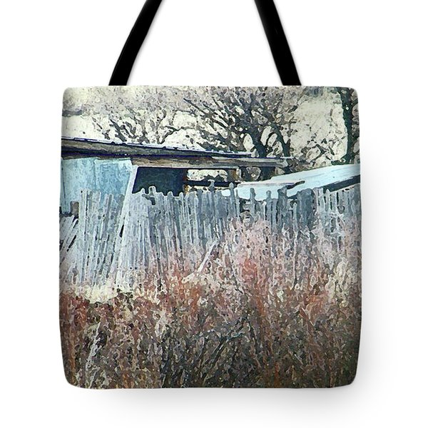 Wyoming Sheds Tote Bag by Lenore Senior