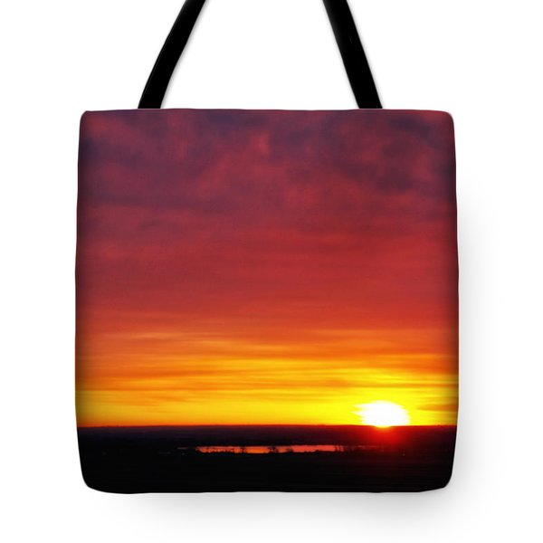 Wyoming Sunrise Tote Bag