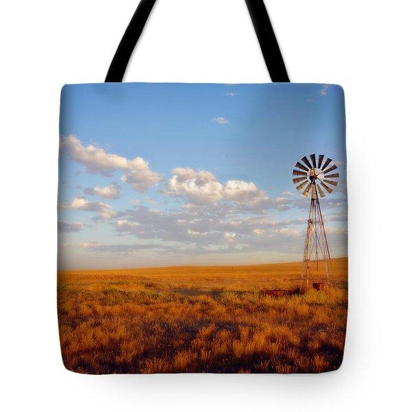 Windmill At Sunset Tote Bag