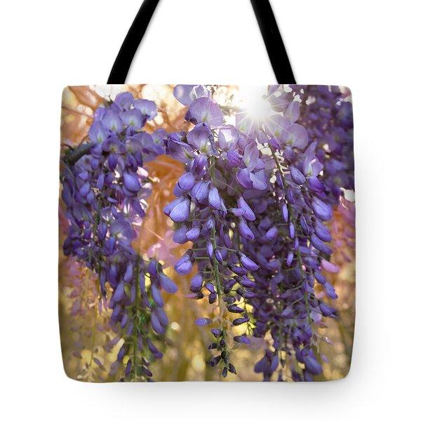 Wysteria Tote Bag by Debra and Dave Vanderlaan