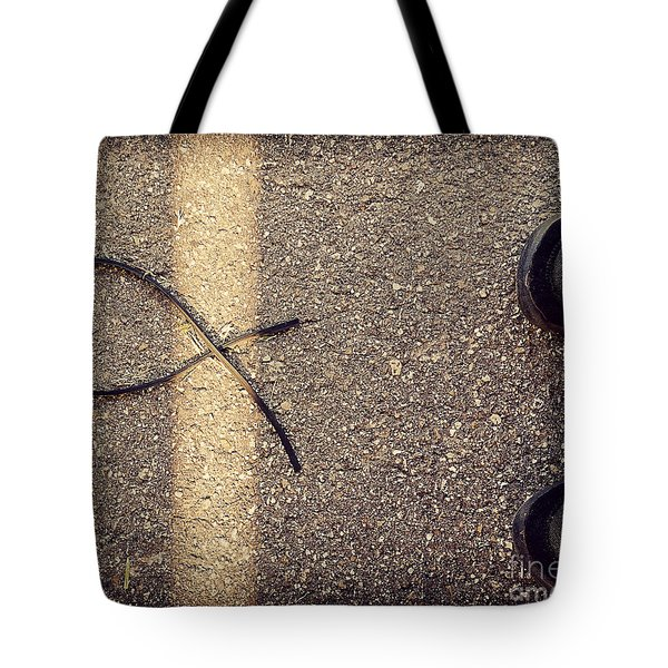 Tote Bag featuring the photograph X On The Line by Meghan at FireBonnet Art