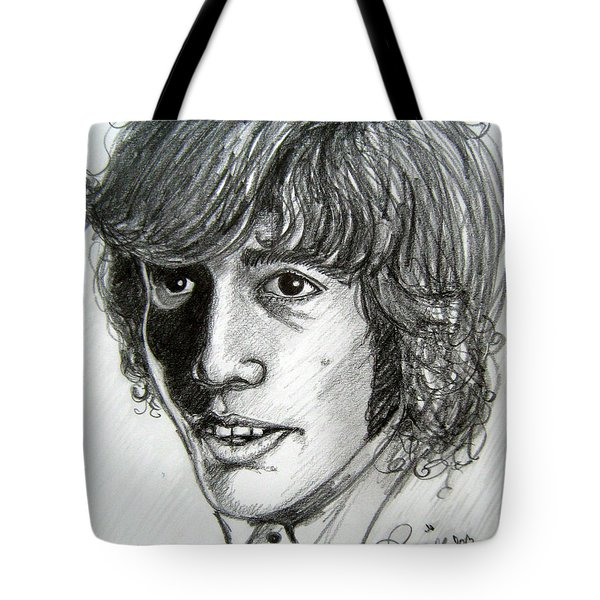 Tote Bag featuring the drawing Robin Gibb by Patrice Torrillo