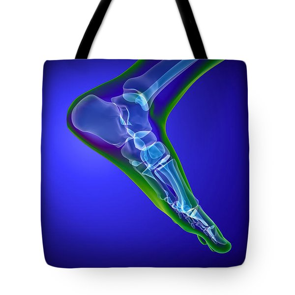 X-ray View Of Human Foot Tote Bag by Stocktrek Images