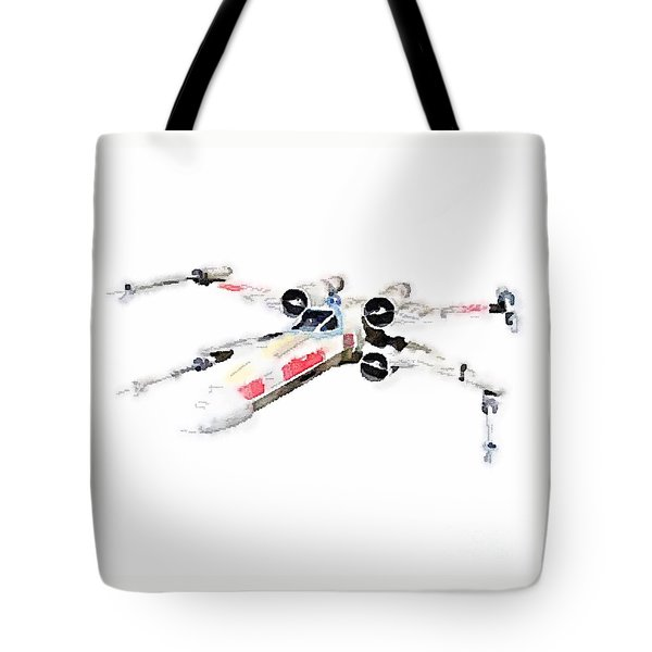 Tote Bag featuring the painting X-wing by Helge