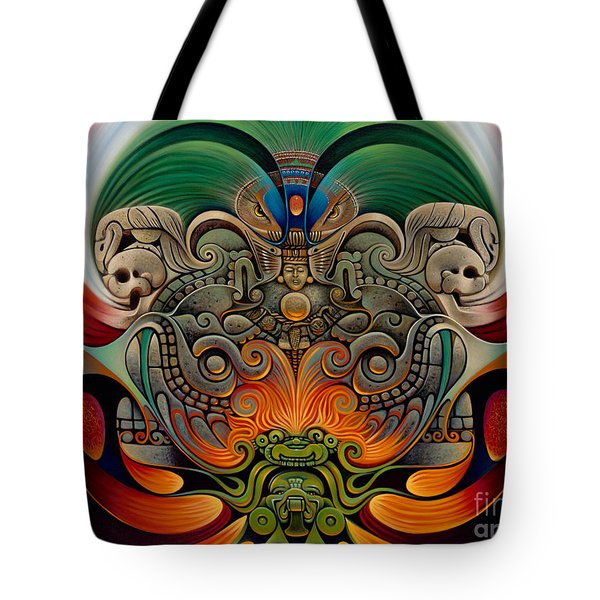 Xiuhcoatl The Fire Serpent Tote Bag