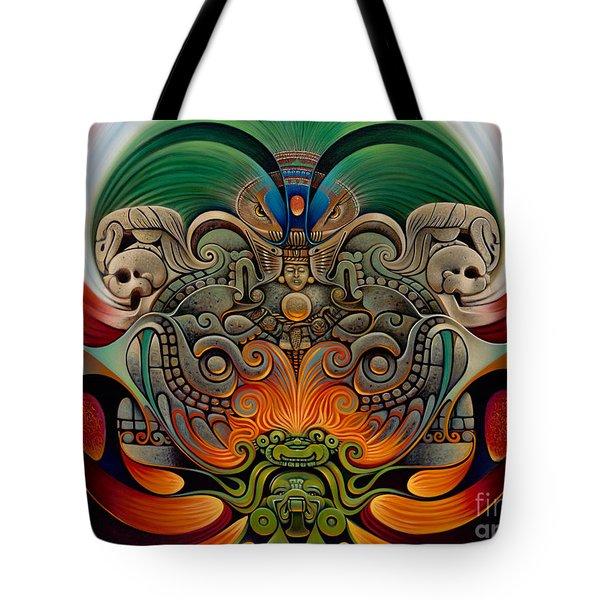 Xiuhcoatl The Fire Serpent Tote Bag