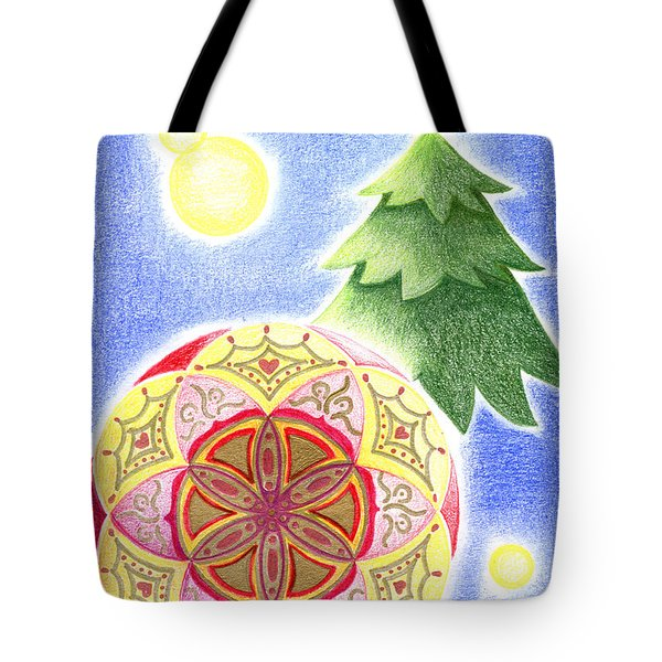 Tote Bag featuring the drawing X'mas Ornament by Keiko Katsuta