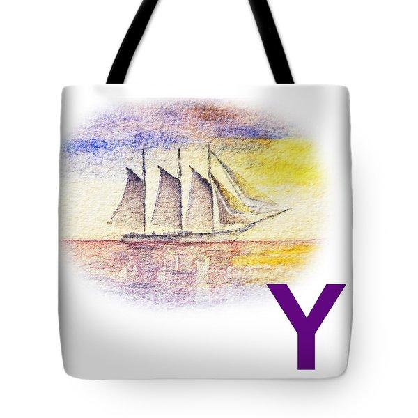 Y Art Alphabet For Kids Room Tote Bag by Irina Sztukowski