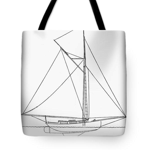 Yacht: Kelpie, 1882 Tote Bag by Granger