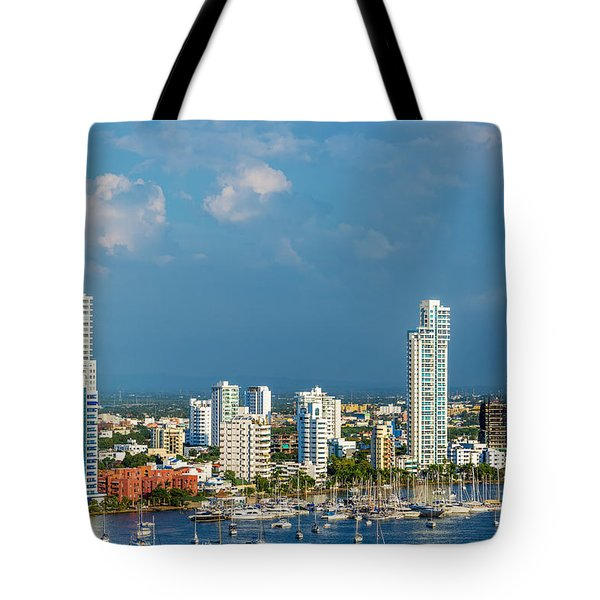 Yachts And Modern Cartagena Tote Bag