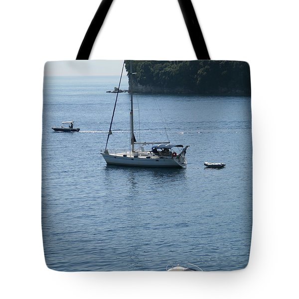 Yachts At Anchor Tote Bag