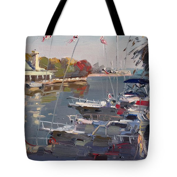 Yachts In Port Credit  Tote Bag
