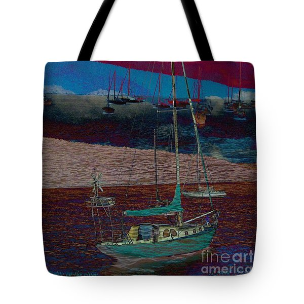Tote Bag featuring the photograph Yachts On The River by Leanne Seymour