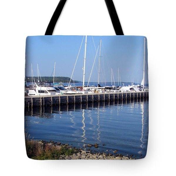 Yachtworks Marina Sister Bay Tote Bag