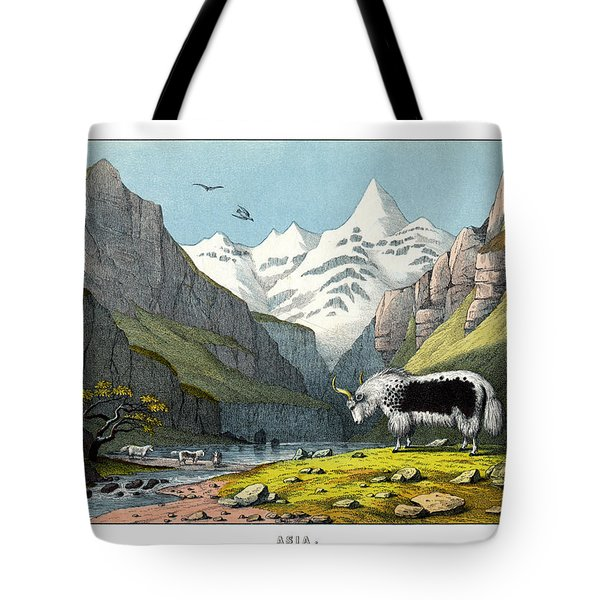 Yak Tote Bag by Splendid Art Prints