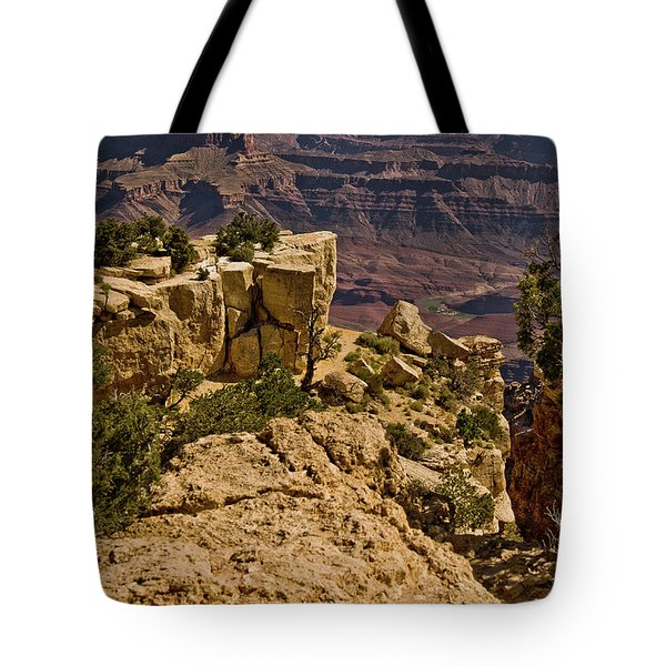 Tote Bag featuring the photograph Yaki Point 3 The Grand Canyon by Bob and Nadine Johnston