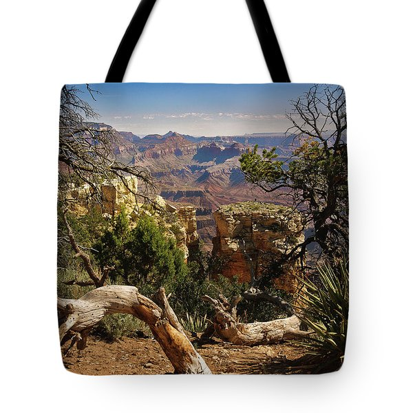 Tote Bag featuring the photograph Yaki Point 4 The Grand Canyon by Bob and Nadine Johnston