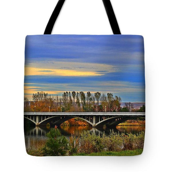 Yakima River Bridge Tote Bag