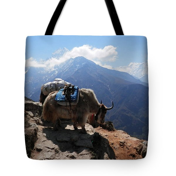 Yaks 1a Tote Bag by Pema Hou