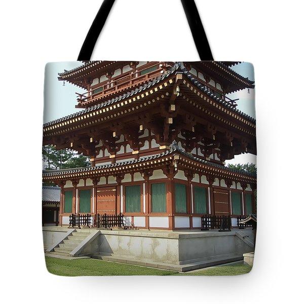 Yakushi-ji Temple West Pagoda - Nara Japan Tote Bag by Daniel Hagerman