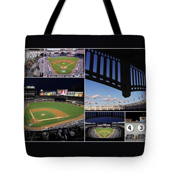 Yankee Stadium Collage Tote Bag