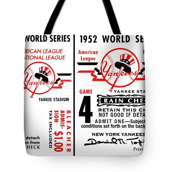 Yankees 4th Straight - Modern Tote Bag by Benjamin Yeager