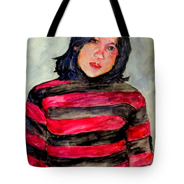 Tote Bag featuring the painting Yanti P by Jason Sentuf