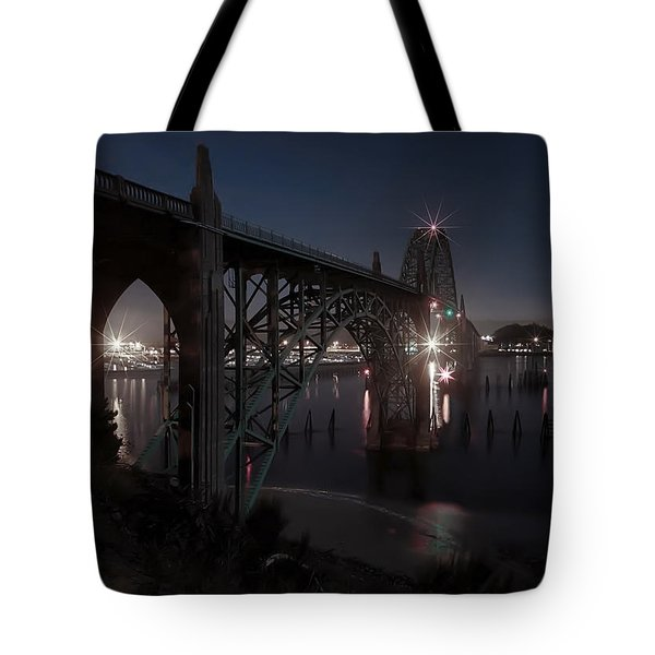 Yaquina Bay Bridge - Newport Oregon Tote Bag by Daniel Hagerman