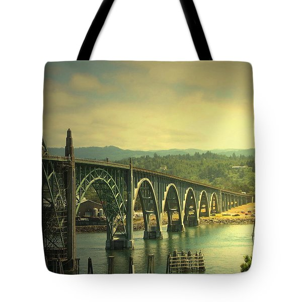 Yaquina Bay Bridge Or Tote Bag by Joyce Dickens
