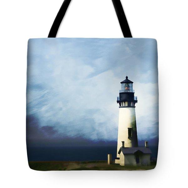 Yaquina Head Light Tote Bag by Carol Leigh