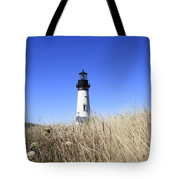 Yaquina Head Lighthouse Tote Bag by David Gn