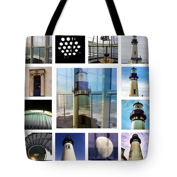 Yaquina Head Lighthouse Essence  Tote Bag by Susan Garren