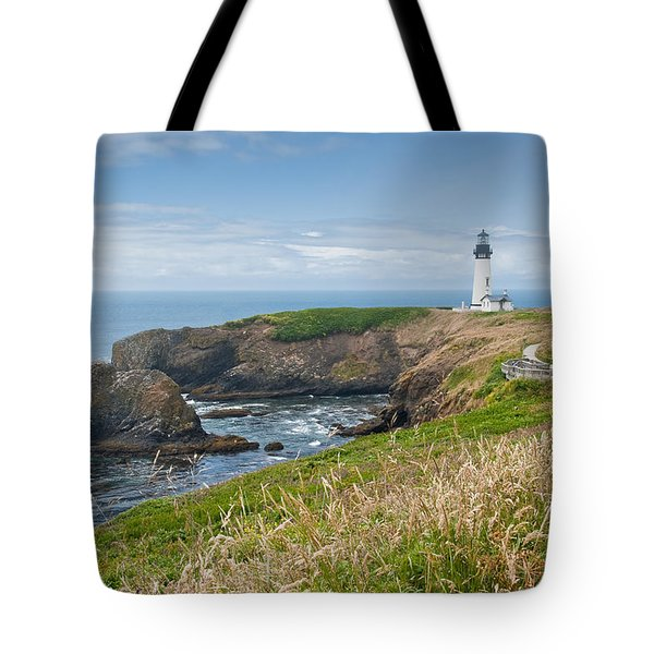 Yaquina Head Lighthouse Tote Bag by Jeff Goulden